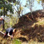 Volunteer on organic farm Nepal